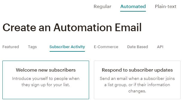 mailchimp-automated-email
